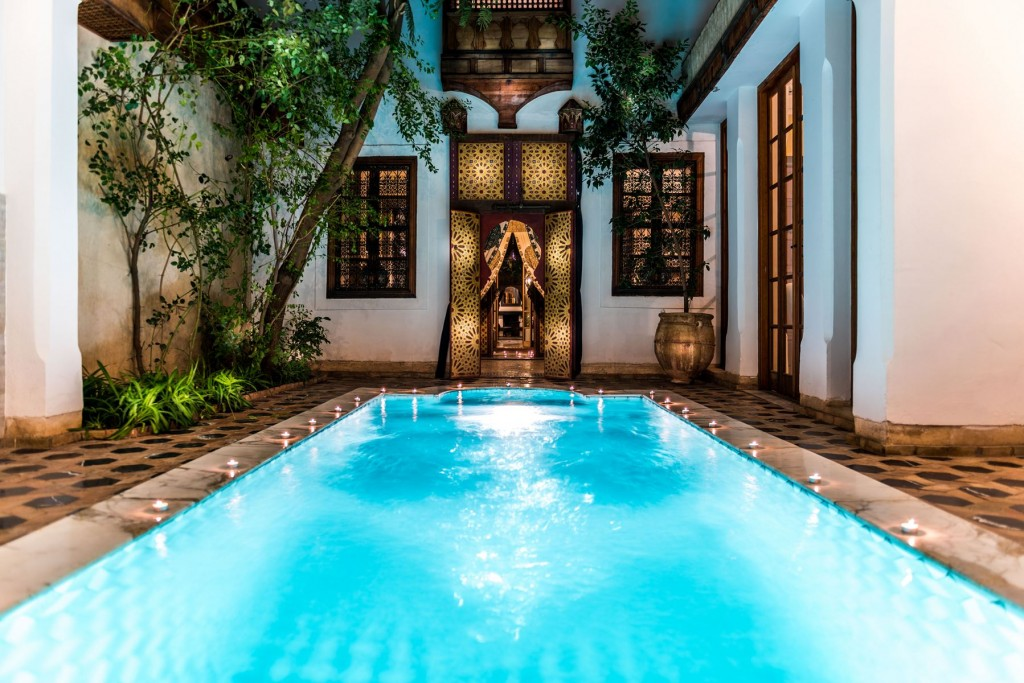 Riad Trois Cours: Marrakech' riad; zwembad